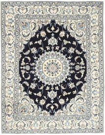 Nain Rug 193X250 Authentic  Oriental Handknotted Light Grey/Beige (Wool, Persia/Iran)