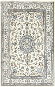 Nain Rug 195X303 Authentic  Oriental Handknotted Beige/Light Grey/Dark Grey (Wool, Persia/Iran)