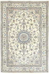 Nain Rug 193X290 Authentic  Oriental Handknotted Beige/Light Grey (Wool, Persia/Iran)