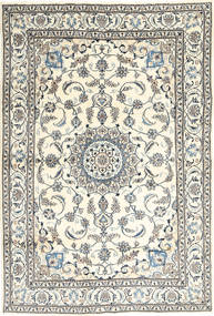 Nain Rug 195X292 Authentic  Oriental Handknotted Beige/Light Grey (Wool, Persia/Iran)