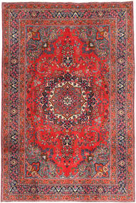 Mashad Rug 197X295 Authentic  Oriental Handknotted Dark Red/Dark Grey (Wool, Persia/Iran)