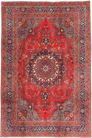 Mashad Teppe 197X295 Ekte Orientalsk Håndknyttet Mørk Rød/Mørk Blå (Ull, Persia/Iran)