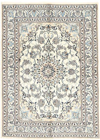 Nain Rug 151X210 Authentic  Oriental Handknotted Beige/Light Grey (Wool, Persia/Iran)