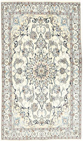 Nain Rug 120X205 Authentic  Oriental Handknotted Beige/Light Grey (Wool/Silk, Persia/Iran)