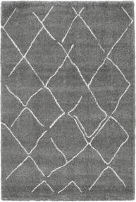 Shaggy Agadir - Grey/Off White Rug 200X300 Modern Dark Grey ( Turkey)
