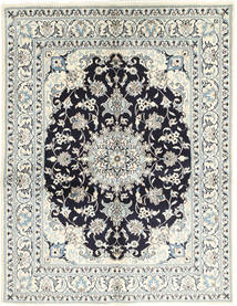 Nain Rug 148X193 Authentic  Oriental Handknotted Beige/Light Grey/Dark Grey (Wool/Silk, Persia/Iran)