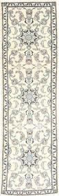 Nain Tæppe 79X293 Ægte Orientalsk Håndknyttet Tæppeløber Beige/Lysegrå (Uld, Persien/Iran)