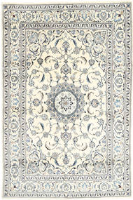 Nain Rug 197X301 Authentic  Oriental Handknotted Beige/Light Grey (Wool, Persia/Iran)