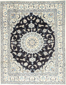 Nain Rug 197X254 Authentic  Oriental Handknotted Light Grey/Beige/Dark Grey (Wool, Persia/Iran)