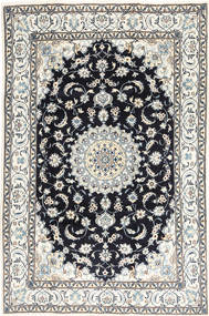 Nain Rug 197X295 Authentic  Oriental Handknotted Light Grey/Dark Blue (Wool, Persia/Iran)
