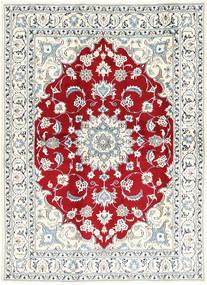 Nain Covor 168X235 Orientale Lucrat Manual Gri Deschis/Bej (Lână, Persia/Iran)