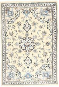 Nain Tæppe 97X151 Ægte Orientalsk Håndknyttet Beige/Lysegrå (Uld, Persien/Iran)