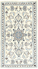 Nain Rug 72X135 Authentic  Oriental Handknotted Beige/Light Grey (Wool, Persia/Iran)