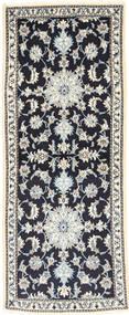Nain Alfombra 80X200 Oriental Hecha A Mano Beige/Gris Claro/Azul Oscuro (Lana, Persia/Irán)