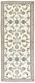 Nain Rug 81X200 Authentic  Oriental Handknotted Hallway Runner  Beige/Light Grey (Wool, Persia/Iran)