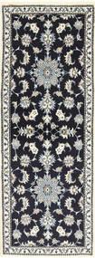 Nain Alfombra 77X206 Oriental Hecha A Mano Azul Oscuro/Gris Claro (Lana, Persia/Irán)