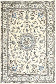 Nain Tapete 193X298 Oriental Feito A Mão Bege/Cinzento Claro (Lã, Pérsia/Irão)