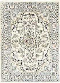 Nain Matto 146X200 Itämainen Käsinsolmittu Beige/Vaaleanharmaa (Villa/Silkki, Persia/Iran)