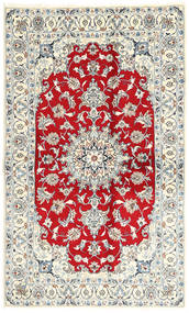 Nain Rug 123X203 Authentic  Oriental Handknotted Light Grey/Beige (Wool, Persia/Iran)