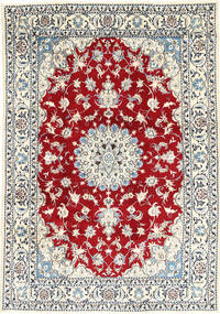 Nain Rug 167X238 Authentic  Oriental Handknotted Beige/Light Blue (Wool, Persia/Iran)