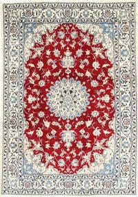 Nain Teppe 167X238 Ekte Orientalsk Håndknyttet Beige/Lys Blå (Ull, Persia/Iran)