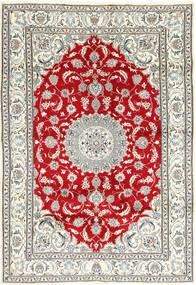ナイン 絨毯 198X283 オリエンタル 手織り ベージュ/薄い灰色 (ウール, ペルシャ/イラン)