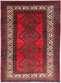 Shiraz Rug 218X300 Authentic  Oriental Handknotted Crimson Red/Dark Blue (Wool, Persia/Iran)