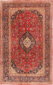 Keshan Rug 199X317 Authentic  Oriental Handknotted Rust Red/Brown (Wool, Persia/Iran)