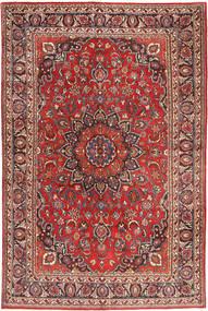 Mashad Teppe 194X300 Ekte Orientalsk Håndknyttet Brun/Rust (Ull, Persia/Iran)