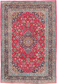 Kashmar Rug 197X300 Authentic  Oriental Handknotted Crimson Red/Dark Grey (Wool, Persia/Iran)