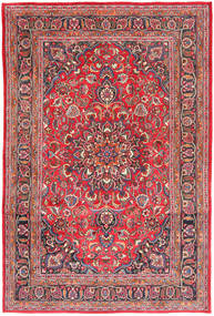 Mashad Rug 194X290 Authentic  Oriental Handknotted Rust Red/Light Pink (Wool, Persia/Iran)