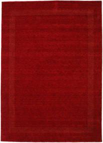Handloom Gabba - Punainen Matto 240X340 Moderni Tummanpunainen (Villa, Intia)