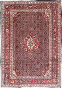 Moud Dywan 216X308 Orientalny Tkany Ręcznie Ciemnoczerwony/Jasnoszary (Wełna, Persja/Iran)