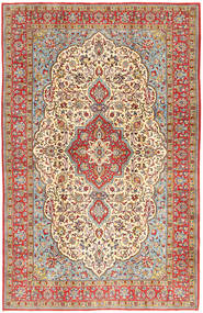 Qum Sherkat Farsh Rug 206X308 Authentic  Oriental Handknotted Light Brown/Brown (Wool, Persia/Iran)