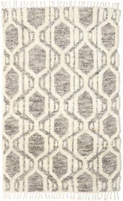 Barchi/Moroccan Berber Rug 160X230 Authentic  Modern Handknotted Beige/Light Grey (Wool, India)