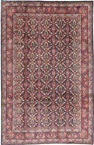 Mahal Szőnyeg 206X322 Keleti Csomózású Bíbor/Sötét Bézs (Gyapjú, Perzsia/Irán)
