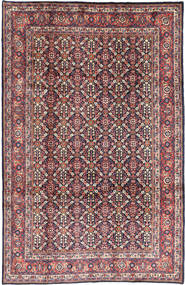 Mahal Rug 206X322 Authentic Oriental Handknotted Purple/Dark Beige (Wool, Persia/Iran)