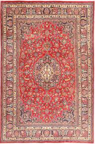 Mashad Vloerkleed 196X298 Echt Oosters Handgeknoopt Donkerbruin/Purper (Wol, Perzië/Iran)