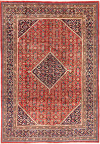 Mahal Rug 214X307 Authentic  Oriental Handknotted Brown/Dark Brown (Wool, Persia/Iran)