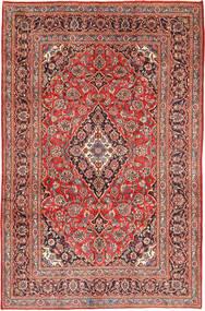 Keshan Rug 191X290 Authentic  Oriental Handknotted Dark Red/Light Brown (Wool, Persia/Iran)