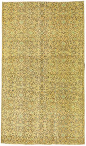Colored Vintage Rug 140X243 Authentic  Modern Handknotted Yellow/Olive Green (Wool, Turkey)