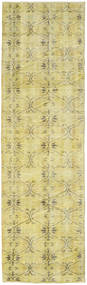 Colored Vintage Rug 76X260 Authentic  Modern Handknotted Hallway Runner  Yellow/Light Green (Wool, Turkey)