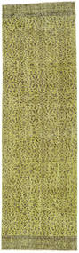 Colored Vintage Rug 82X278 Authentic  Modern Handknotted Hallway Runner  Olive Green/Light Green (Wool, Turkey)