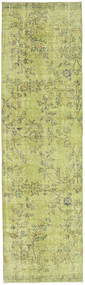 Colored Vintage Rug 79X280 Authentic  Modern Handknotted Hallway Runner  Light Green (Wool, Turkey)