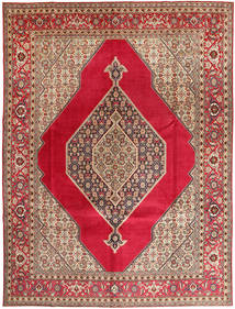 Tabriz Signed: Abaghi Rug 290X380 Authentic  Oriental Handknotted Crimson Red/Dark Red Large (Wool, Persia/Iran)