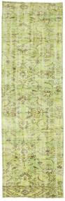 カラード ヴィンテージ 絨毯 82X261 モダン 手織り 廊下 カーペット ライトグリーン (ウール, トルコ)