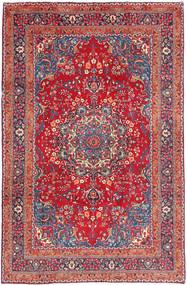 Mashad Matta 192X296 Äkta Orientalisk Handknuten Röd/Mörklila (Ull, Persien/Iran)