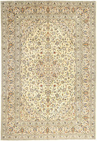 Keshan Rug 247X357 Authentic  Oriental Handknotted Dark Beige/Light Grey (Wool, Persia/Iran)