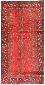 Hamadan Alfombra 132X257 Oriental Hecha A Mano Óxido/Roja/Naranja (Lana, Persia/Irán)
