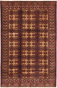 Turkaman Rug 163X253 Authentic Oriental Handknotted Dark Red/Light Brown (Wool, Persia/Iran)